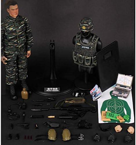 Blesiya 1/6 militaire figuur model speelgoed, diy beweegbare realistische headsculpt soldaat model leger man actie figuren spelen set