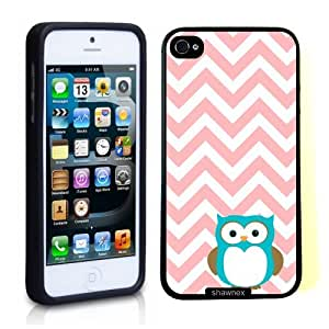 Iphone 5 5S Case Thinshell Case Protective Iphone 5 5S Case Shawnex Owl Coral Chevron