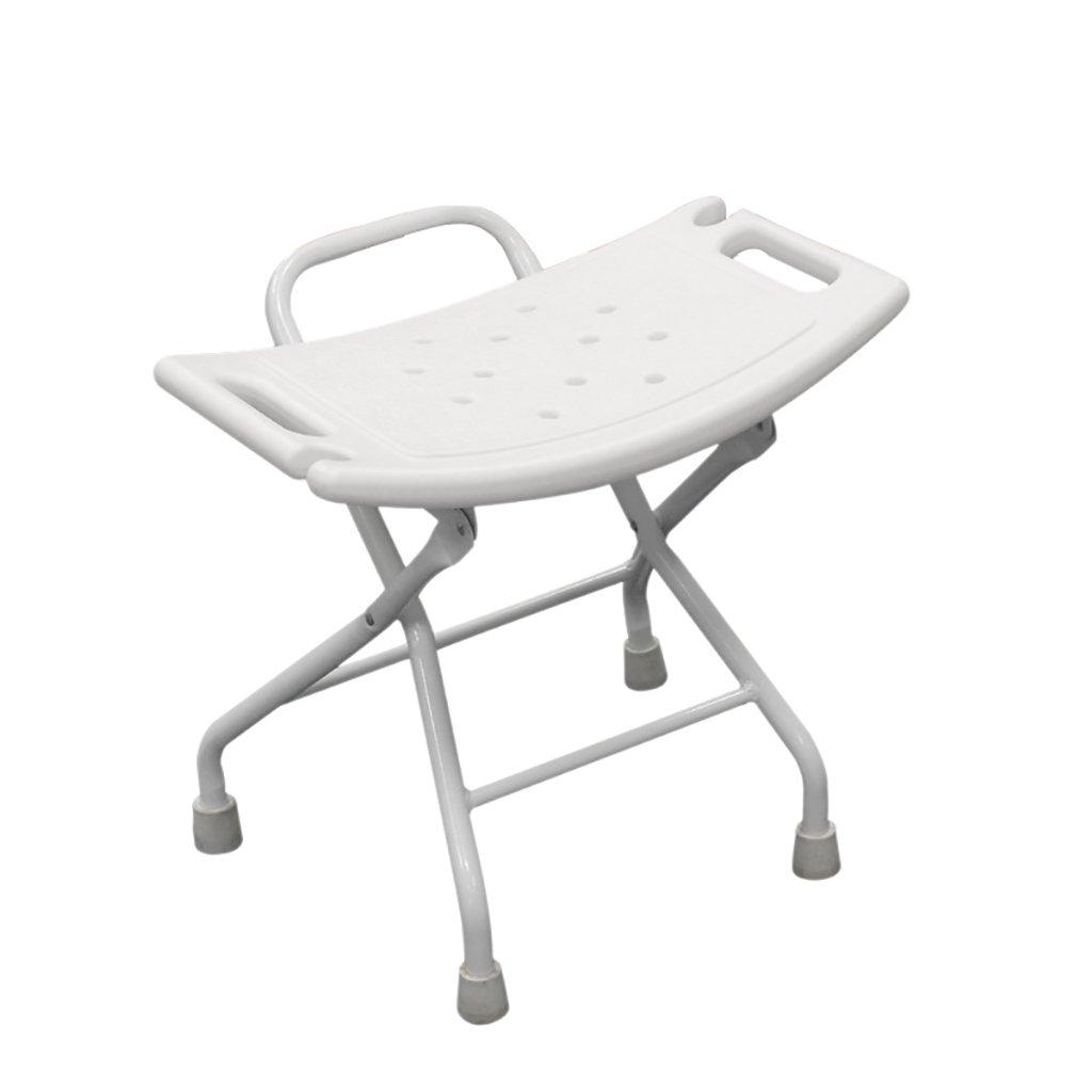 XUEPING バスルームスツールホーム折りたたみシャワースツール高齢者/障害者/妊婦の安全スリップスツールプラスチックシャワースツール白 (色 : A) B07DCTQTLN  A