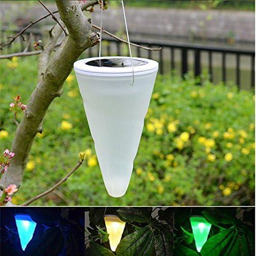 4 X Luces Solares Colgantes Focos LED Luz Solar Exterior, Impermeables Con Cambiar el Luz de Color y Forma de Cónica, Perfectos para Camping, Jardines, Patios, Caminos, etc de NORDSD: Amazon.es: Jardín