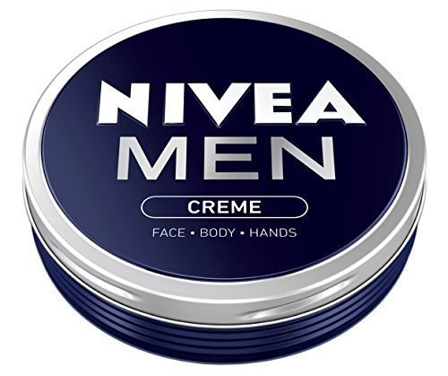 Nivea Men Creme Face Body Hand Cream 2 x 75ml in metal tin