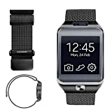 iWonow 22mm Milanese Loop Watch Band Stainless Steel Magnetic Bracelet Strap for Samsung Gear 2 R381 R382 R380, Samsung Galaxy Watch 46mm SM-R800, Gear S3 Classic/Frontier