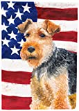 Caroline's Treasures BB9700GF Welsh Terrier Patriotic Decorative Outdoor Flag, Garden Size, Multicolor Review