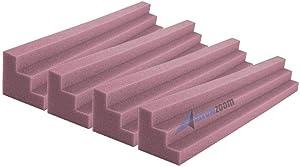 Arrowzoom Super Dash 4 Pieces 12 x 12 x 48 cm Purple Column Pillar Bass Trap Acoustic Foam Wedge Studio Foam Corner Block Finish Corner Wall in Studios or Home Theater SD1162