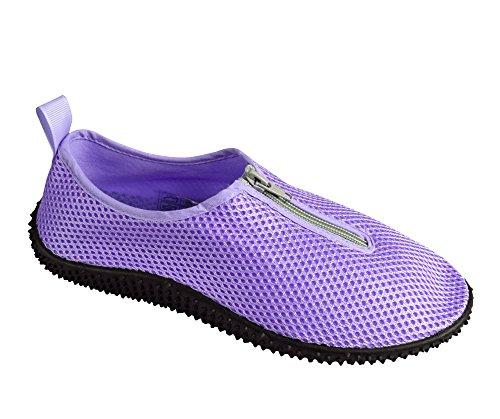 Perzik Couture Womens Atletisch Water Schoenen Slip Op Sneldrogende Aqua Sokken Paars