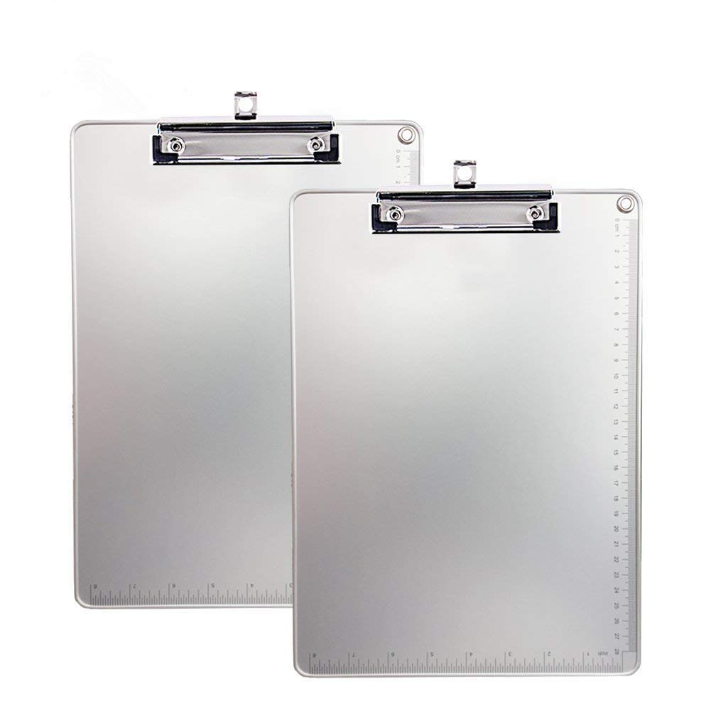 Aluminum Clipboard, Kakbep Recycled Heavy Duty with Strong Clip 9x12.5 Letter Size, File A4 Binder Holder for Office School Worker Business