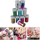 IebeautyNewest Fashion 25 colors Nail Art Transfer Foil Nail St Pack of 10 rolls