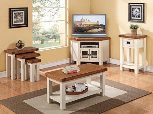 Awesome Alba Painted Oak Small Coffee Table With Shelf   Finish : Oak Stone Painted  White Grey Finish   Living Room Furniture: Amazon.co.uk: Kitchen U0026 Home