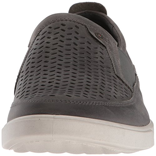 Ecco Heren Collin Geperforeerde Slip Op Fashion Sneaker Titanium