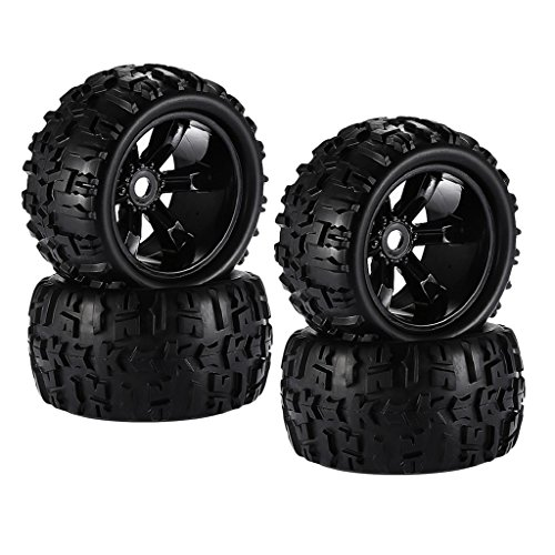 Homyl Set of 4 Rubber 1:8 RC Car Tires Tyres for Louise TRAXXAS HPI Savage HSP Flux Spare Parts