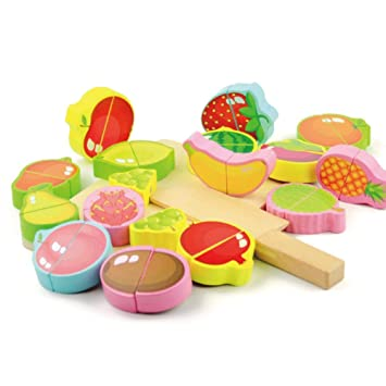 ebb2d072481a Children s Mini Kitchen Toy Set Simulation Fruit   Vegetable Cutting Games  Model Toys with Kids Role