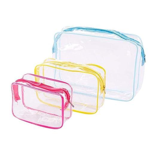 LYX Bolsa de cosméticos Transparente de 3 Piezas Bolsa ...
