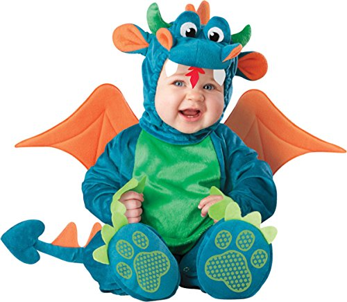 InCharacter Baby Dinky Dragon Costume, Teal/Green, Medium (12 - 18 (Childrens Dragon Halloween Costumes)