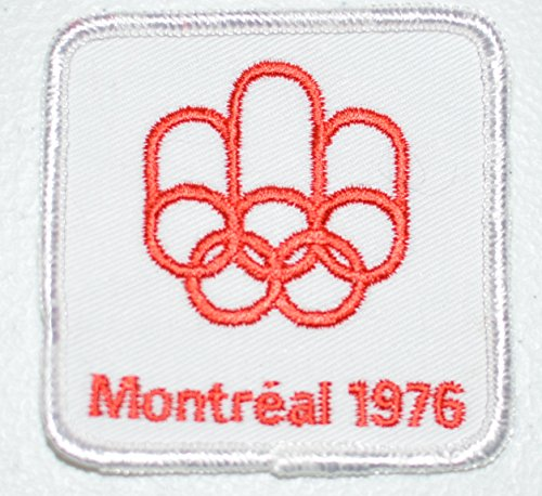 Montreal 1976 Olympic Games (Montreal 1976 Summer Olympic Games White Souvenir Crest Sew-on Embroidered Applique)