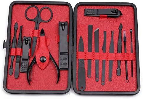 TOPWAY Cortaúñas Manicure Pedicure Kits de aseo Set de viaje 15PC ROJO: Amazon.es: Belleza