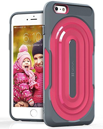 iPhone 6s Plus Rugged funda - Vena [vArmor] protector (delgado encajar | pesado deber) cubierta de la caja híbrida para Apple iPhone 6s Plus / iPhone 6 Plus (Gris / Rosa) Gris / Rosa