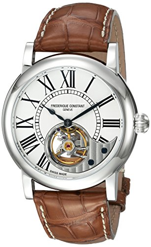 Frederique-Constant-Mens-Heart-Beat-Manufacture-Automatic-Stainless-Steel-and-Leather-Casual-Watch-ColorBrown-Model-FC-930MS4H6
