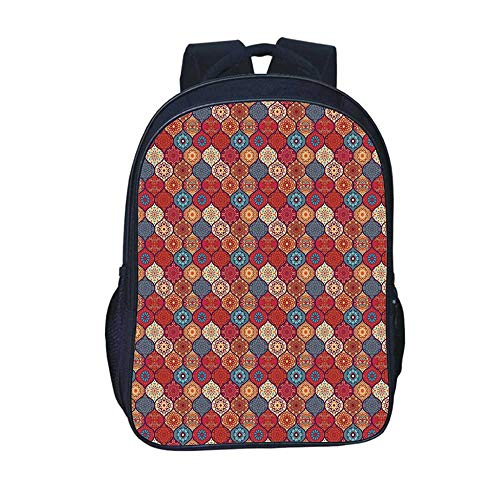 Moroccan Durable Backpack,Oriental Wavy Curvy Pattern for sale  Delivered anywhere in USA