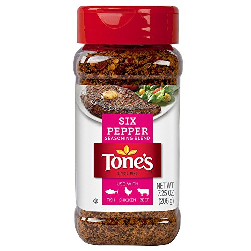 (3 X 7.25 Oz Tone's Six Pepper Seasoning Blend)
