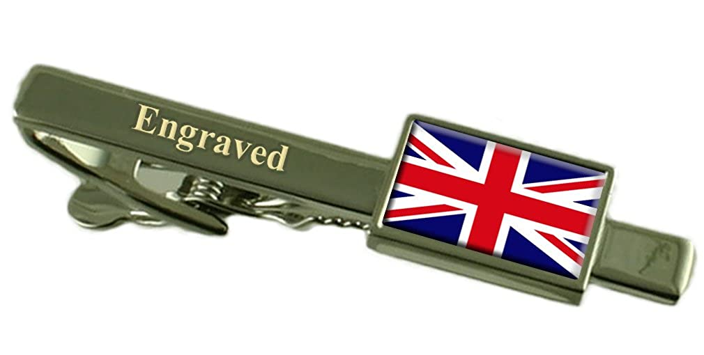 Britain Flag Engraved Personalised Tie Clip