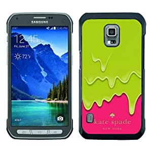 Genuine Kate S5 Active Case,Kate Spade 217 Black Samsung Galaxy S5 Active Screen Phone Case Beautiful and Grace Design