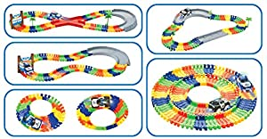 Liberty Imports Create A Road Super Snap Speedway | Magic Journey Flexible Track Set | Ideal Gift Toy for Toddlers, Kids, Boys, and Girls