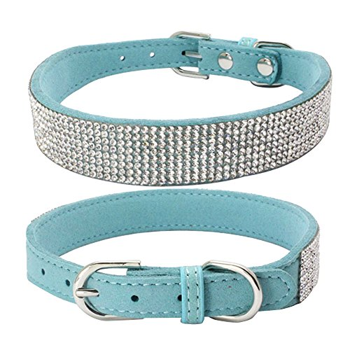 Hpapadks Diamond Dog Collar Rhinestone,Bling Dog Collar Sparkly Rhinestone Studded Small Medium Dog Collar Pet Supplies ()