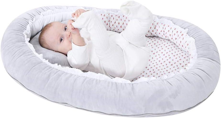 JIAli Baby Crib Folding Travel Nursery Infant Toddler Cradle Sleeping Bed