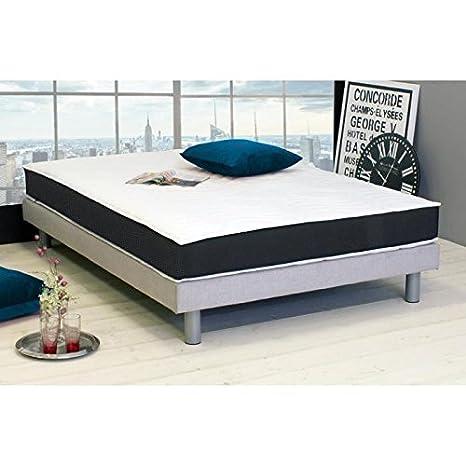 dormipurmemo V850 - Colchón 180 x 200 cm - espuma poliuretano y memoria de forma - equilibré - 30 kg/m3 y 50 kg/m3 - 2 personas: Amazon.es: Hogar