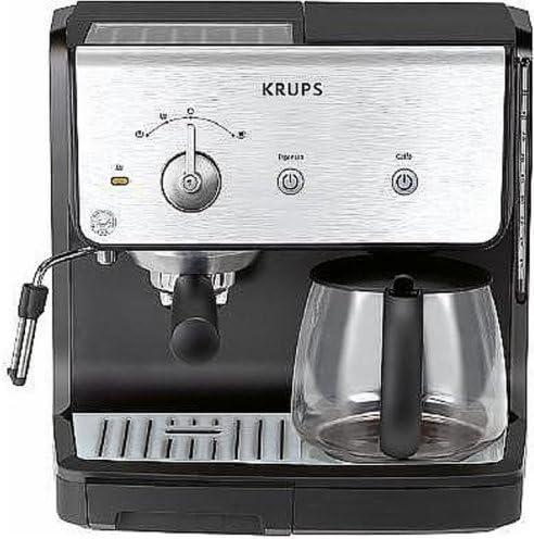 Krups yy1039fd Cafetera expreso Combina Color Negro Acero ...