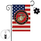 Bonsai Tree marine corps usmc seasonal burlap garden flag Banner decorative outdoor Double Sided yard flag 12 x 18 prime