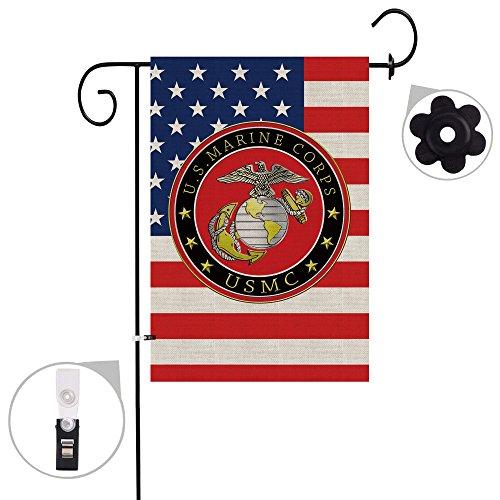 Bonsai Tree marine corps usmc seasonal burlap garden flag Ba