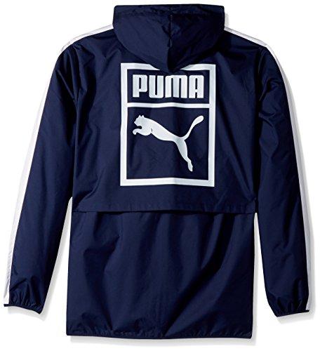 PUMA Men's Archive Logo Windbreaker, Peacoat, Small by PUMA (Image #2)
