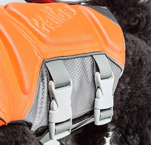 Dog Helios 'Tidal Guard' Multi-Point Strategically-Stitched Reflective Pet Dog Life Jacket Vest, Large, Orange by Pet Life (Image #2)