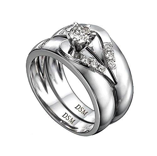 Diamond Musée or blanc 18K Bague-8,11Gr