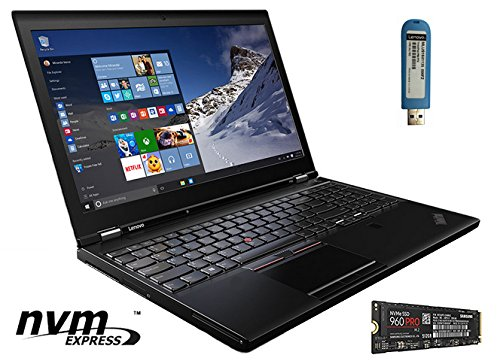 LENOVO THINKPAD P50 WITH NVME (20EN-P1): 15.6-INCH IPS. i7-6700HQ, 64GB RAM, 512GB NVME SSD SAMSUNG 960 PRO, 2TB HDD, NVIDIA M1000M, WIN 7 PRO 64-BIT - BLACK