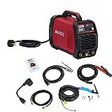 AMICO POWER ATIG1852018 TIG-185 / 180 Amp HF TIG Torch/Stick/Arc Welder 115 & 230V Dual Voltage Welding Machine, Red