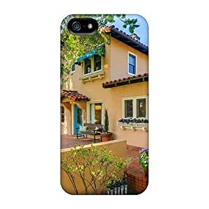 Fashion Case Anti-scratch And Shatterproof House With Flowers cell phone case covers For Iphone 4s High F9rTLSPOSIG Quality case covers