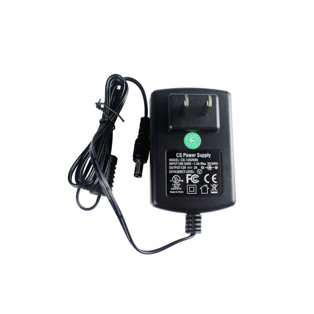 2 Packs AC Adapter DC 12V 2A 12V2A Power Supply for CCTV Cameras DVR Strip LED 5.5*2.1mm UL Listed FCC