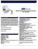 "Tork Advanced 12024402 Mini Jumbo Bath Tissue Roll, 2-Ply, 7.36"" Diameter, 3.55"" Width x 751' Length, White"