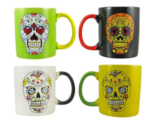 Set Of 4 DAY OF THE DEAD Sugar