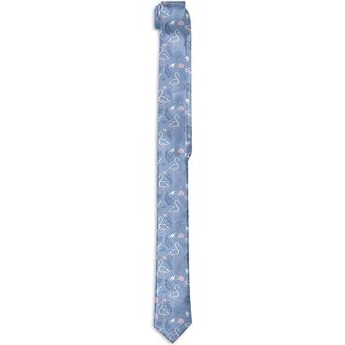 Aeykis Modern Mens Skinny Tie Floral Print Corbata, Tropical ...