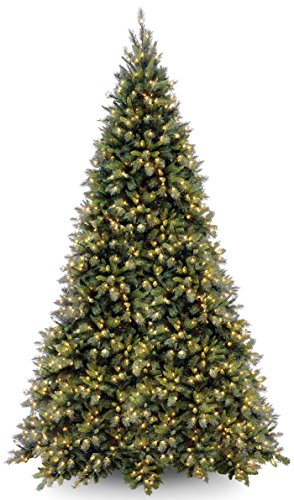 National Tree 12 Foot Tiffany Fir Tree with 1400 Clear Lights, Hinged ()