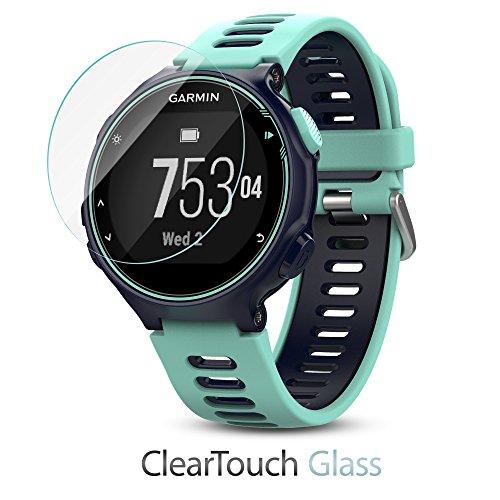 Garmin Forerunner 735XT Screen Protector, BoxWave [ClearTouch Glass] 9H Tempered Glass Screen Protection for Garmin Forerunner 735XT
