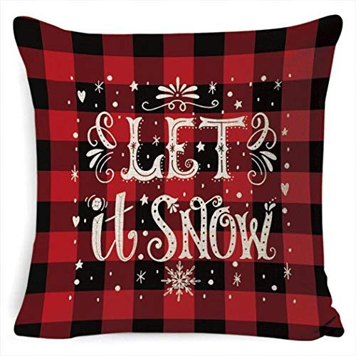 Pagacat Christmas Series Printed Pillowcase Soft Decoration Linen Cushion Cover Pillowcases