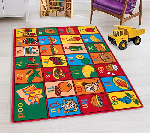 HR'S 8FTX11FT KIDS EDUCATIONAL/PLAYTIME RUG 7FT.4INX10FT.4IN (ABC FRUITS)PLEASE CHECK ALL THE PICTURES
