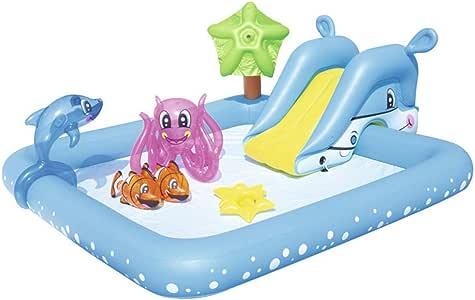 مركز لعب قابل للنفخ للأطفال الرضع ، مع منزلق مائي ، مسبح صيفي محمول للنشاط الخلفي ، ألعاب كبيرة في الهواء الطلق ، متعة مائية ، للأعمار من 3 أعوام فما فوق