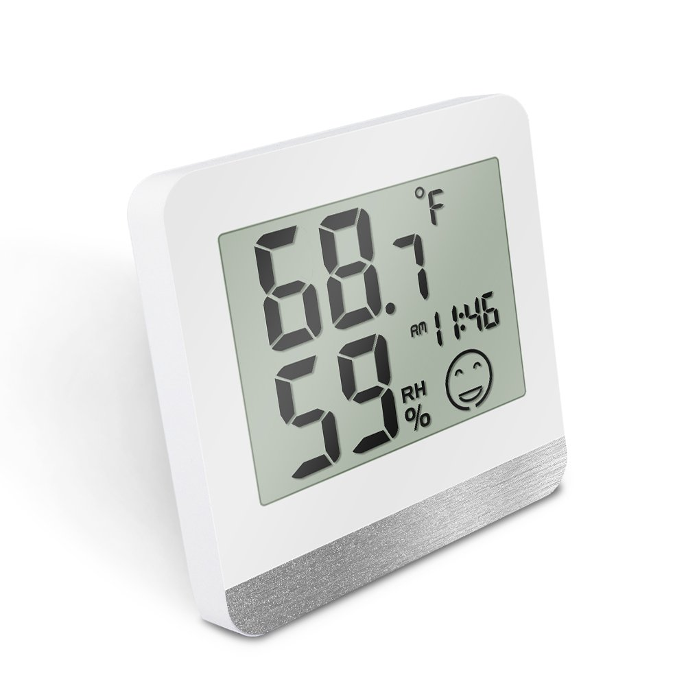 Digital Hygrometer Thermometer, Protmex PT2242TH Accuracy Indoor Temperature Humidity Monitor, Digital Thermometers Humidity Meter (℃/℉) With Max/Min Records And Clock, For Kitchen, Home, Restaurants
