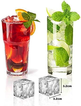 2pcs Bandeja para Cubitos de Hielo, INTVN Cubitera Hielo Moldes de Silicona Cuadrados para Congelarse Alimentos para Bebés, Cola,Cócteles Cola Whisky (Colore Casuale)