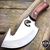 """7.25"""" Hunting Survival Skinning Gut Hook FIXED BLADE KNIFE Full Tang + SHEATH WD"""